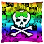 Rainbow Skull Standard Flano Cushion Case (Two Sides)