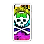 Rainbow Skull iPhone 6/6S White Enamel Case