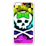 Rainbow Skull iPhone 6 Plus/6S Plus Enamel White Case