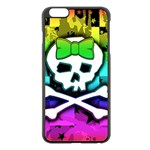 Rainbow Skull iPhone 6 Plus/6S Plus Black Enamel Case