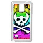 Rainbow Skull Samsung Galaxy Note 4 Case (White)