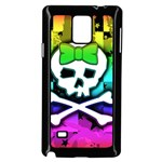 Rainbow Skull Samsung Galaxy Note 4 Case (Black)
