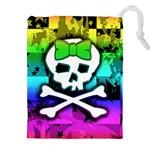 Rainbow Skull Drawstring Pouch (XXL)