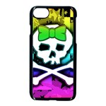 Rainbow Skull iPhone 7 Seamless Case (Black)