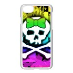 Rainbow Skull iPhone 7 Seamless Case (White)