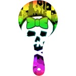 Rainbow Skull Mini Wooden Mirror