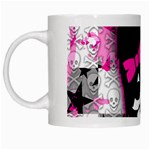 Scene Kid Girl Skull White Mug