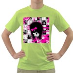Scene Kid Girl Skull Green T-Shirt