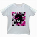 Scene Kid Girl Skull Kids  White T-Shirt