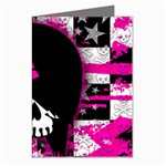 Scene Kid Girl Skull Greeting Card