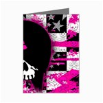 Scene Kid Girl Skull Mini Greeting Card