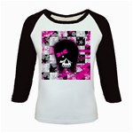 Scene Kid Girl Skull Kids  Baseball Jersey