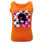 Scene Kid Girl Skull Women s Dark Tank Top