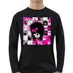 Scene Kid Girl Skull Long Sleeve Dark T-Shirt
