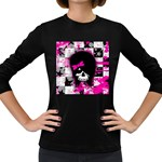 Scene Kid Girl Skull Women s Long Sleeve Dark T-Shirt