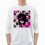 Scene Kid Girl Skull Long Sleeve T-Shirt