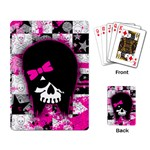 Scene Kid Girl Skull Playing Cards Single Design (Rectangle)