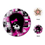 Scene Kid Girl Skull Playing Cards Single Design (Round)