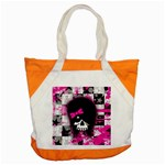 Scene Kid Girl Skull Accent Tote Bag