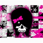 Scene Kid Girl Skull Canvas 12  x 16
