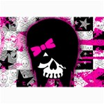 Scene Kid Girl Skull Canvas 12  x 18