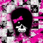 Scene Kid Girl Skull Canvas 16  x 16