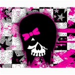 Scene Kid Girl Skull Canvas 16  x 20