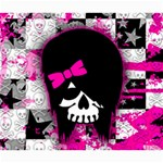 Scene Kid Girl Skull Canvas 20  x 24