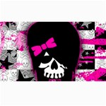 Scene Kid Girl Skull Canvas 40  x 72