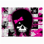 Scene Kid Girl Skull Large Glasses Cloth (2 Sides)