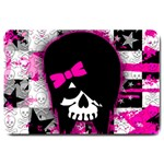 Scene Kid Girl Skull Large Doormat