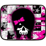 Scene Kid Girl Skull Double Sided Fleece Blanket (Mini)
