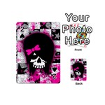 Scene Kid Girl Skull Playing Cards 54 Designs (Mini)