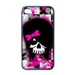 Scene Kid Girl Skull iPhone 4 Case (Black)