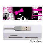 Scene Kid Girl Skull Memory Card Reader (Stick)