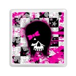 Scene Kid Girl Skull Memory Card Reader (Square)