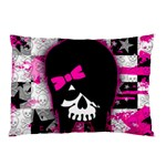 Scene Kid Girl Skull Pillow Case (Two Sides)