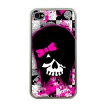 Scene Kid Girl Skull iPhone 4 Case (Clear)