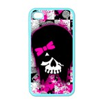 Scene Kid Girl Skull iPhone 4 Case (Color)