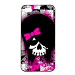 Scene Kid Girl Skull iPhone 4/4s Seamless Case (Black)