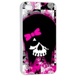 Scene Kid Girl Skull iPhone 4/4s Seamless Case (White)