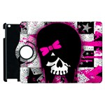 Scene Kid Girl Skull Apple iPad 2 Flip 360 Case