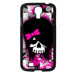Scene Kid Girl Skull Samsung Galaxy S4 I9500/ I9505 Case (Black)