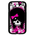 Scene Kid Girl Skull Samsung Galaxy Grand DUOS I9082 Case (Black)