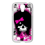 Scene Kid Girl Skull Samsung GALAXY S4 I9500/ I9505 Case (White)