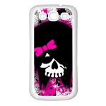 Scene Kid Girl Skull Samsung Galaxy S3 Back Case (White)