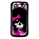 Scene Kid Girl Skull Samsung Galaxy S3 Back Case (Black)