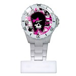 Scene Kid Girl Skull Plastic Nurses Watch