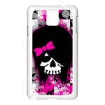 Scene Kid Girl Skull Samsung Galaxy Note 3 N9005 Case (White)