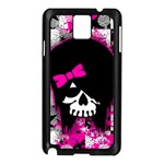 Scene Kid Girl Skull Samsung Galaxy Note 3 N9005 Case (Black)
